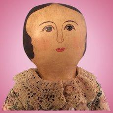 "17"" Columbia type Artist Cloth doll~ Charming!"