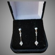Gorgeous .5ctw Diamond Dangle Earrings, 14 K WG