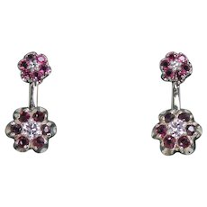 Ruby and Diamond Dangle Earring, Convertable