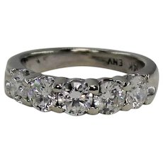 Diamond Wedding or Anniversary Band, 1.5 ctw, 14Kt WG