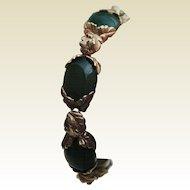 Stunning Vintage Chrysoprase Bracelet, 14 Kt YG