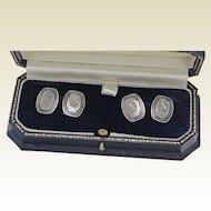 Diamond, Platinum and Yellow Gold Cufflinks, Plat and 14Kt YG