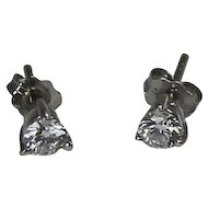 Martini Style Diamond Studs,.5 ctw 18kt and Plat
