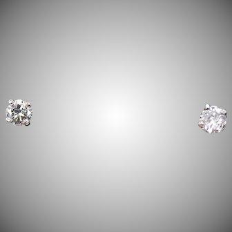Diamond Stud Earrings,  .40 ctw, 14Kt WG