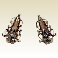 Antique Diamond Earrings, Rose Gold