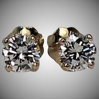 Diamond Stud Earrings, .60 ctw, 14Kt YG