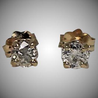 Diamond Stud Earrings, .30 ctw, 14Kt YG