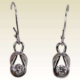 Diamond Dangle Earrings, 1/3 ctw