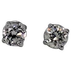 Diamond Stud Earrings, Approx. 1/2 ctw, 14Kt WG