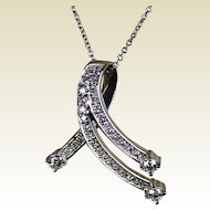 Diamond Pendent or Slide, 14kt WG