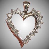 Diamond Heart Pendent, 10kt WG