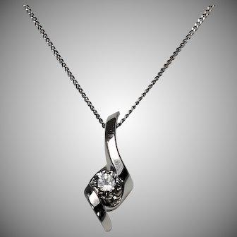Diamond Pendant .25 Ct, 14Kt WG