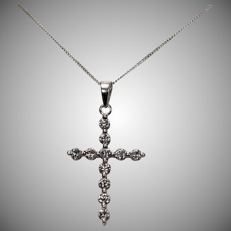 Gorgeous Diamond Cross, Approx 3/4 ctw, 14 kt WG