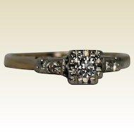 Vintage Diamond Engagement Ring, 14 Kt YG