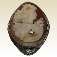 Beautiful Large Cameo, Two Toned 14Kt.
