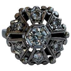 Fabulous Vintage Diamond Ring, 14Kt WG