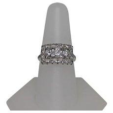Vintage Diamond Ring, Approx. 1 CTW. 14 K WG