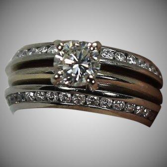 Platinum Diamond Eternity Ring Guards, Size 4