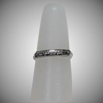 Vintage Diamond Baguette Ring, Plat