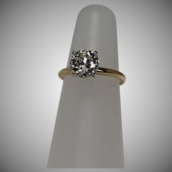 2 CT Approx. Diamond  Solitaire, GIA Cert, 14Kt YG
