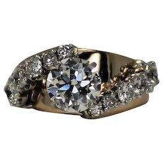 3.2 ctw Diamond Ring, GIA Cert 1.99 ct Main Diamond, 14Kt YG