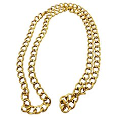 Rare Victorian A. Co 12K Gold Filled Heavy Chain Necklace