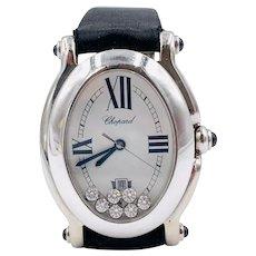 Chopard Happy Sport Watch 18k white gold Floating diamonds 27/7000-23