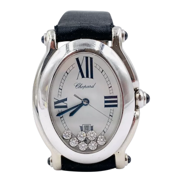 Chopard Happy Sport Watch 18k white gold Floating diamonds 27/7000-23
