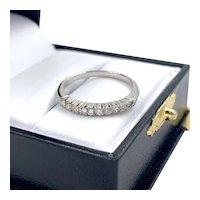 Vintage 18K White Gold Ladies .30ctw Diamond Shared Setting Ring