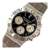 BVLGARI Diagono CH35S Chronograph Black Dial Automatic Wristwatch