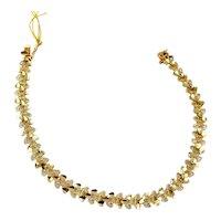 "Vintage 14k yellow gold multi Heart link bracelet hearts 7"""