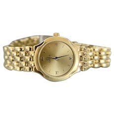 18k Yellow Gold Ladies Omega Deville Watch