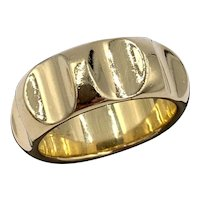 Tiffany Paloma Picasso 18K Gold groove Ring Band sz 9.5