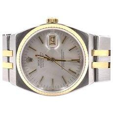 Rolex Oysterquartz Datejust 17013 Stainless steel 18K gold watch circa 1991