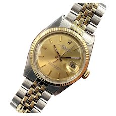 Rolex Vintage 1974 Two-Tone 14K Gold / Stainless Datejust Ref. 1601 Watch