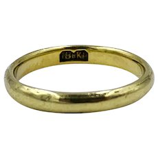 Victorian 18kt Yellow Gold band Ring by J.B. Bowden & co.
