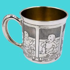 Antique Baby Cup R. Blackinton & Co. Sterling Silver First step