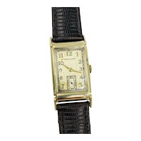 Hamilton Gilman 14K Yellow Gold Watch 982 Mechanical 43mm