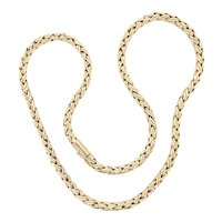 Vintage Tiffany & Co. 14k Yellow Gold Wheat Chain Necklace
