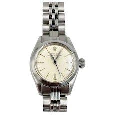 Rolex Oyster Perpetual Ladies Stainless Steel Watch Vintage 6618