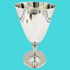 Mid-Century Tiffany Co. Sterling Silver Goblet Cup No Monogram Wine goblet large