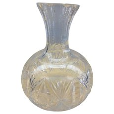 Victorian Hawkes Brilliant Palermo Cut Glass Wine Carafe Decanter