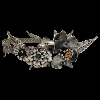 Rodarte Floral Swarovski Crystals Crown Headdress Rare