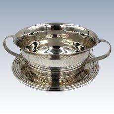 Cartier Sterling Silver Children's Plate and Bowl no mono Rare