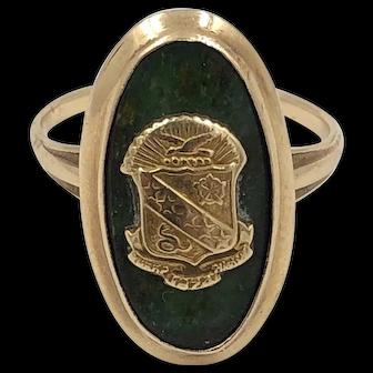 Vintage 14k Yellow Gold Connemara Crest Ring