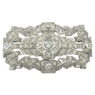 Antique Platinum 5.00 carat Diamond Brooch