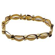 Art Deco 18k 750 Rose Gold Bracelet Industria Argentina