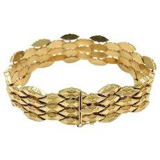 Italian 18k 750 Yellow gold Uno Ar Bracelet Vintage