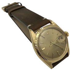 Vintage Rolex 18k yellow Gold oyster perpetual Datejust 36mm Men's Watch 1970's