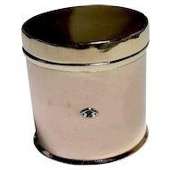 Vintage 14K Gold Art Deco Pill / Trinket Box Cylinder with Diamond